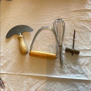 Utensil wooden handle